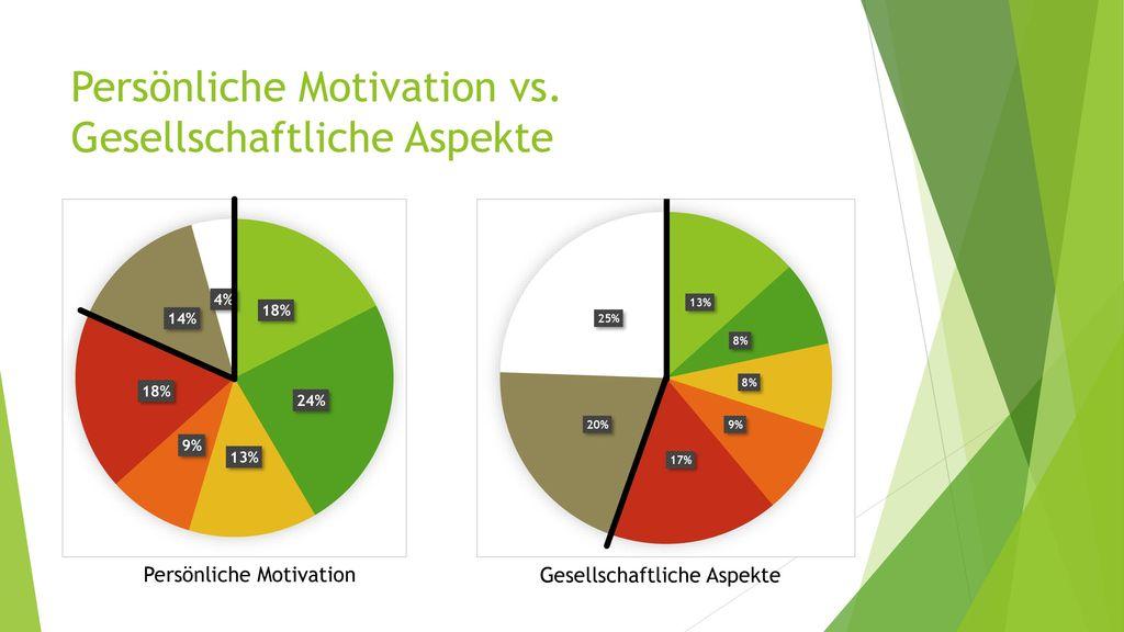 Persönliche Motivation vs. Gesellschaftliche Aspekte