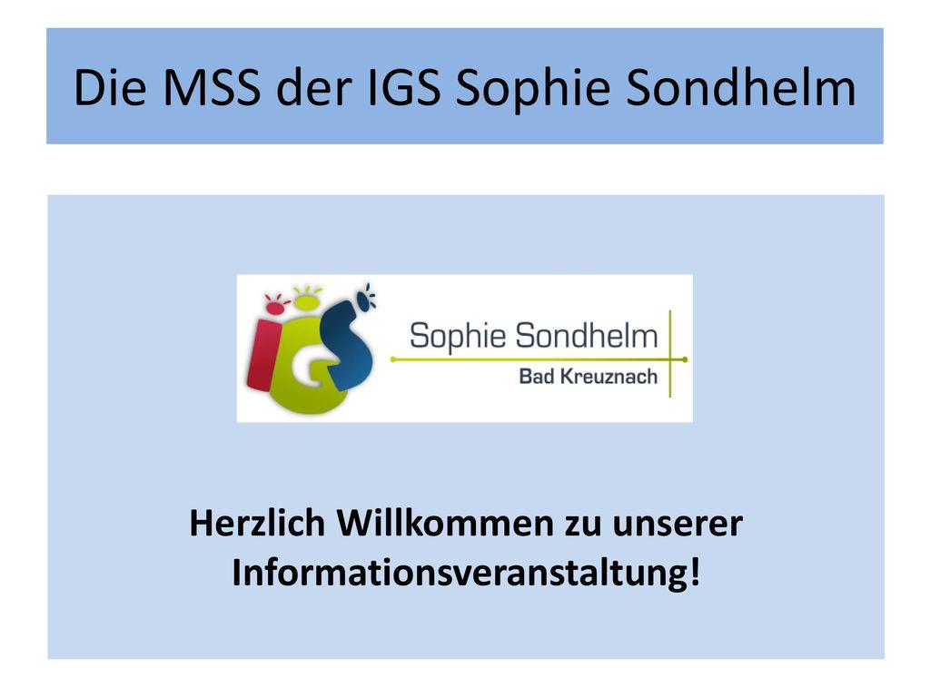 Die MSS der IGS Sophie Sondhelm