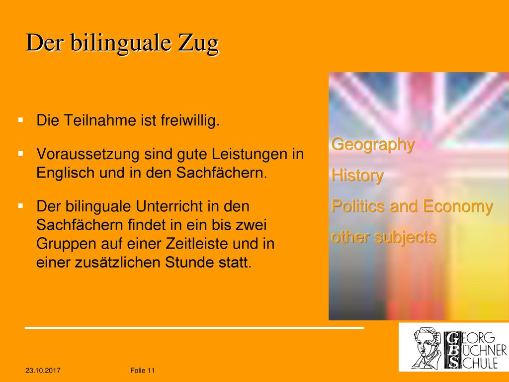 Der bilinguale Zug Geography History Politics and Economy