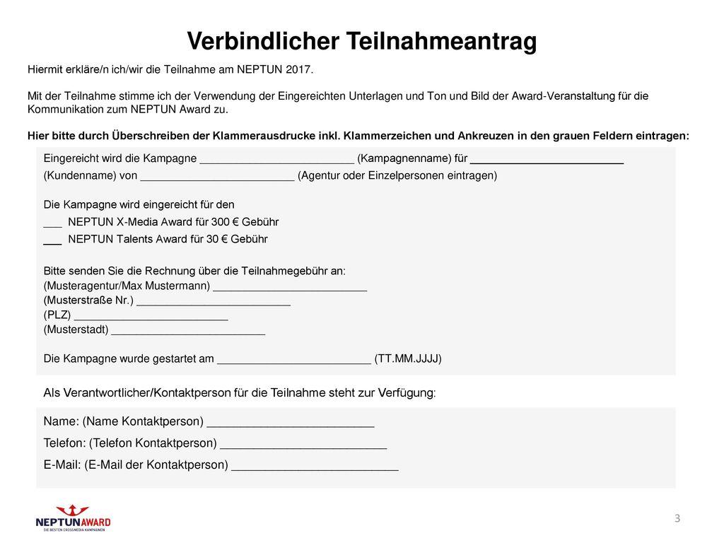 Verbindlicher Teilnahmeantrag