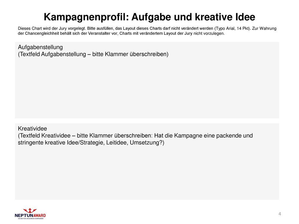 Kampagnenprofil: Aufgabe und kreative Idee