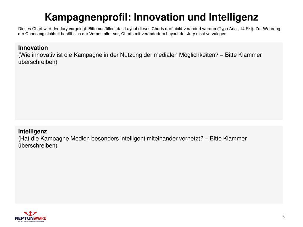 Kampagnenprofil: Innovation und Intelligenz