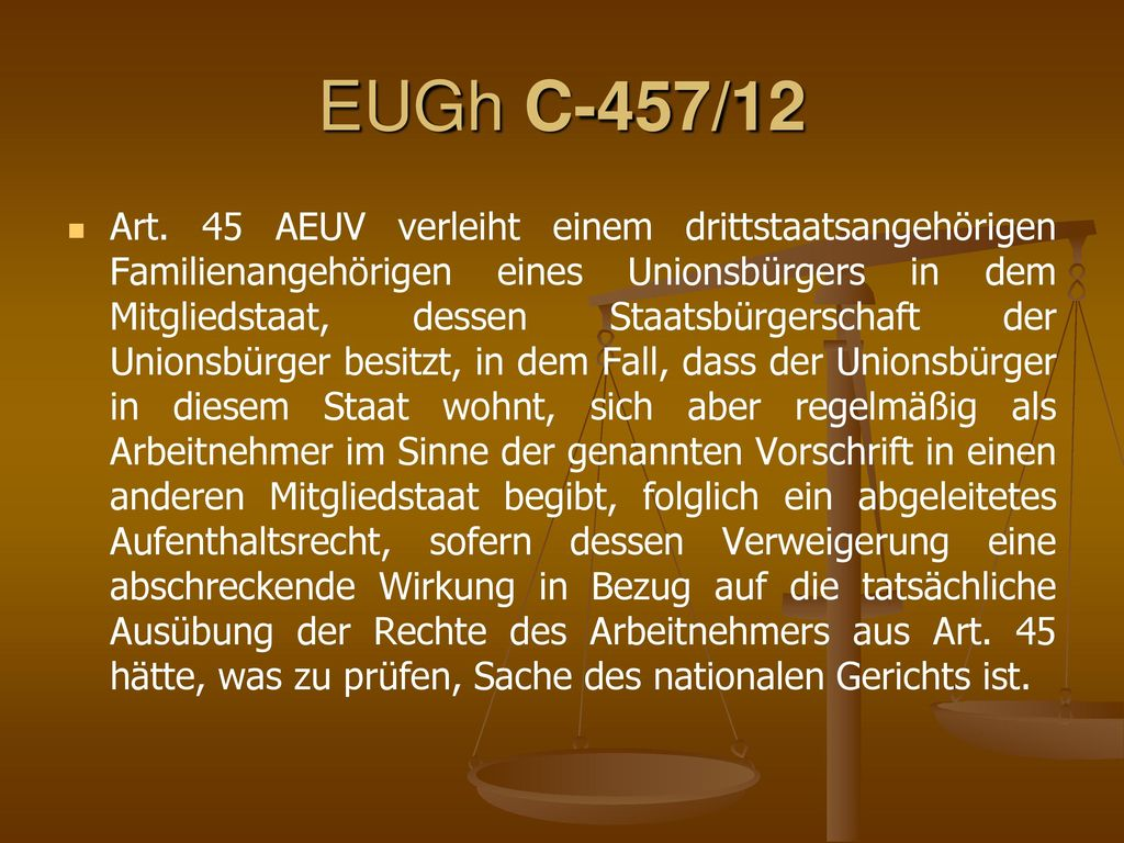 EUGh C-457/12