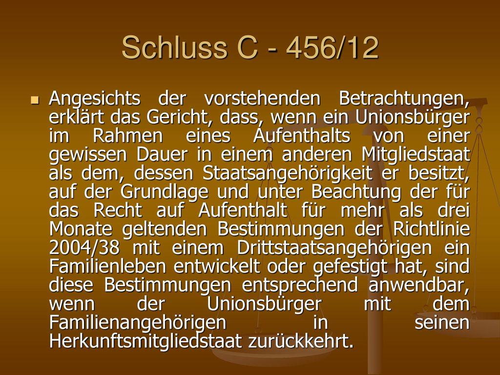 Schluss C - 456/12