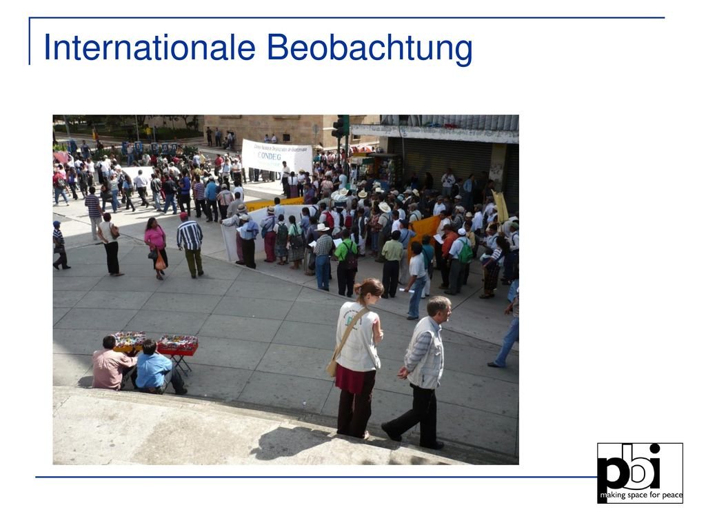 Internationale Beobachtung