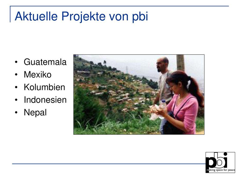 Aktuelle Projekte von pbi