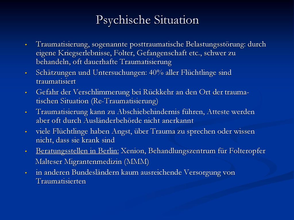 Psychische Situation