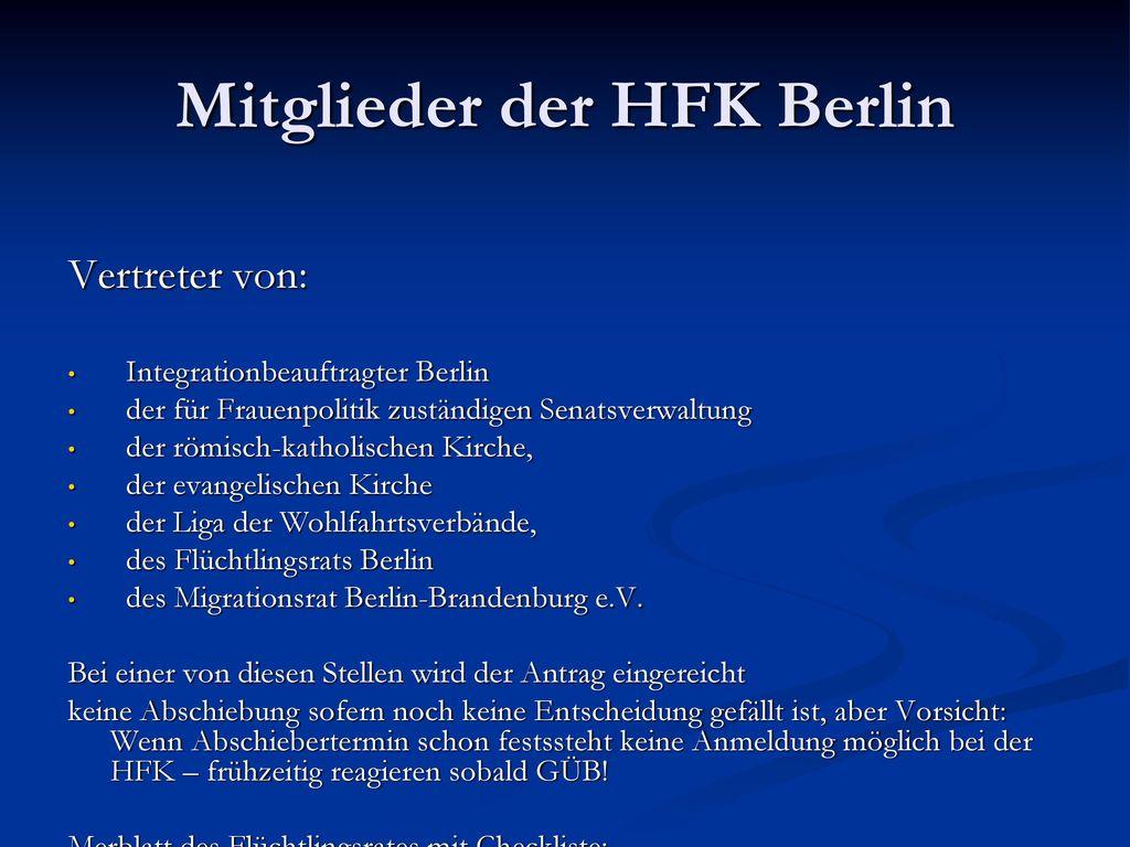 Mitglieder der HFK Berlin