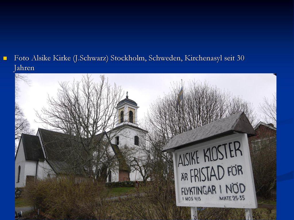 Foto Alsike Kirke (J.Schwarz) Stockholm, Schweden, Kirchenasyl seit 30 Jahren