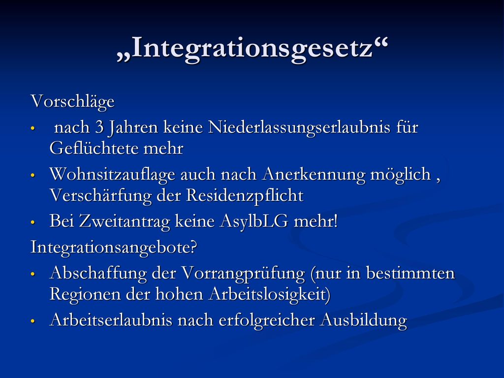 """Integrationsgesetz"