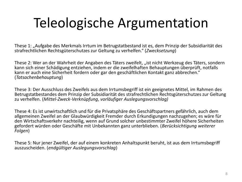 Teleologische Argumentation