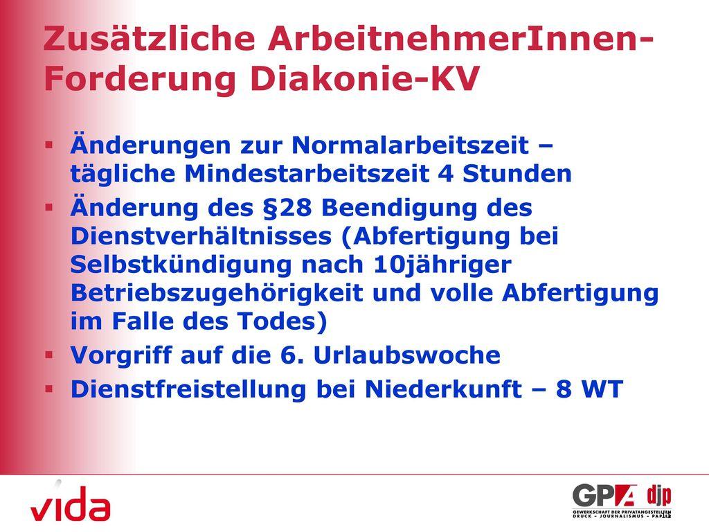 Zusätzliche ArbeitnehmerInnen-Forderung Diakonie-KV
