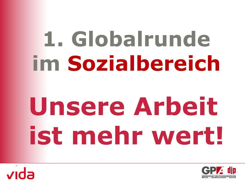 1. Globalrunde im Sozialbereich