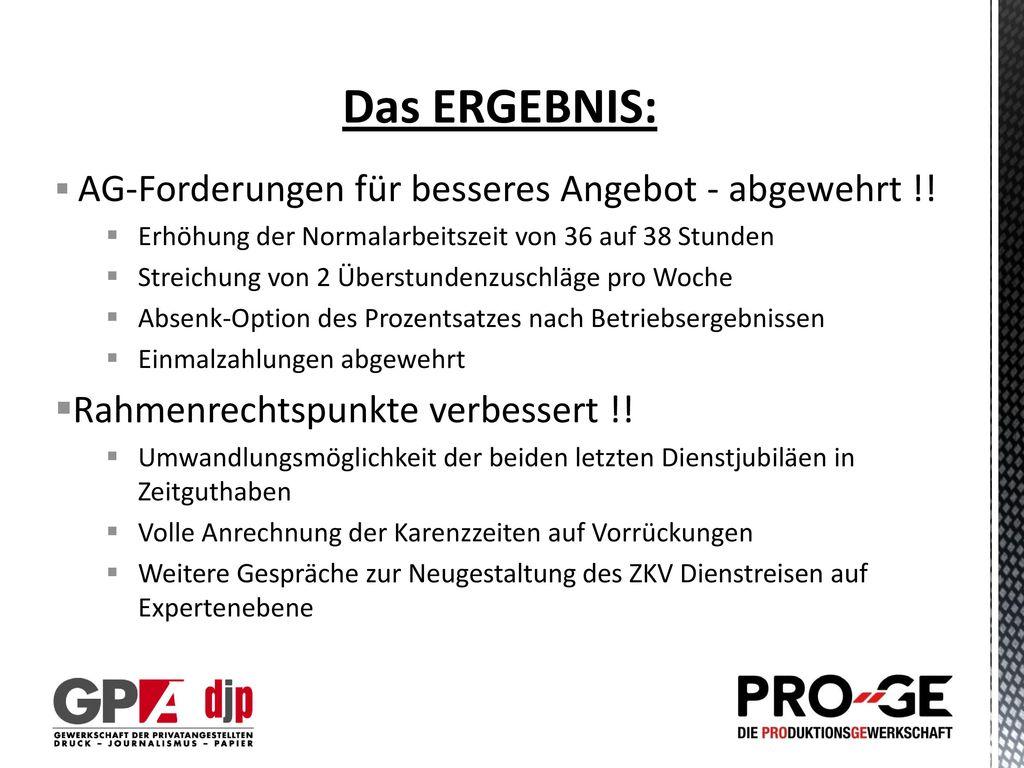 Das ERGEBNIS: Rahmenrechtspunkte verbessert !!