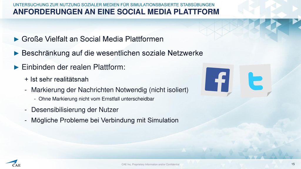 Anforderungen an eine Social Media Plattform