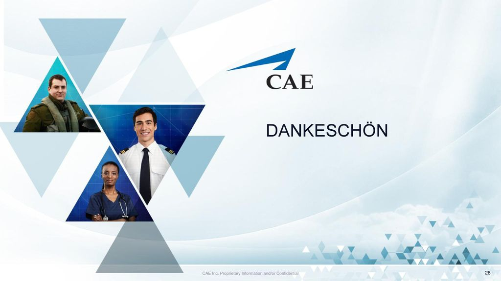 CAE Inc. Proprietary Information and/or Confidential