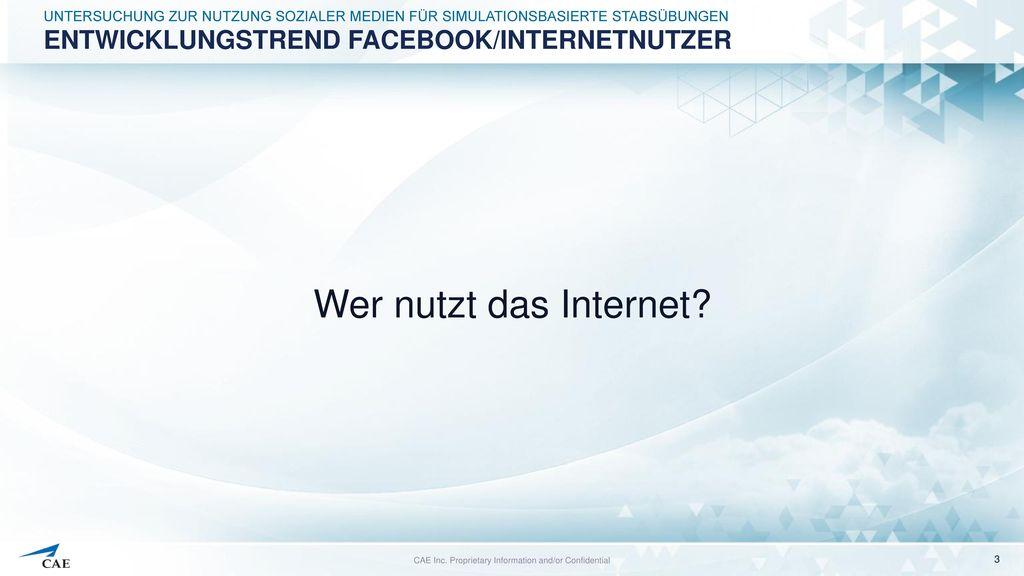 Entwicklungstrend Facebook/Internetnutzer