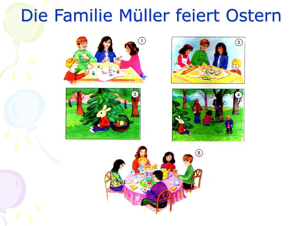 Die Familie Müller feiert Ostern