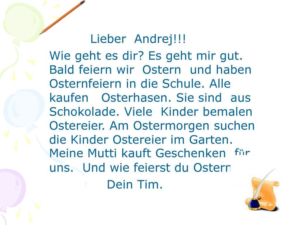 Lieber Andrej!!!