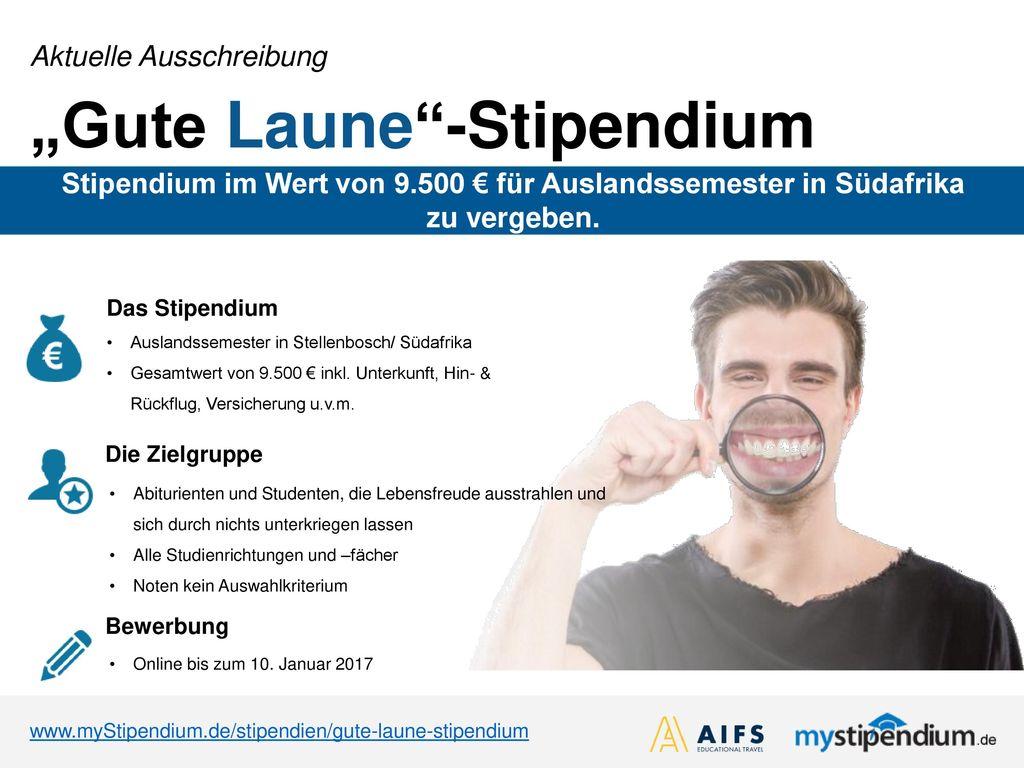 """""""Gute Laune -Stipendium"""