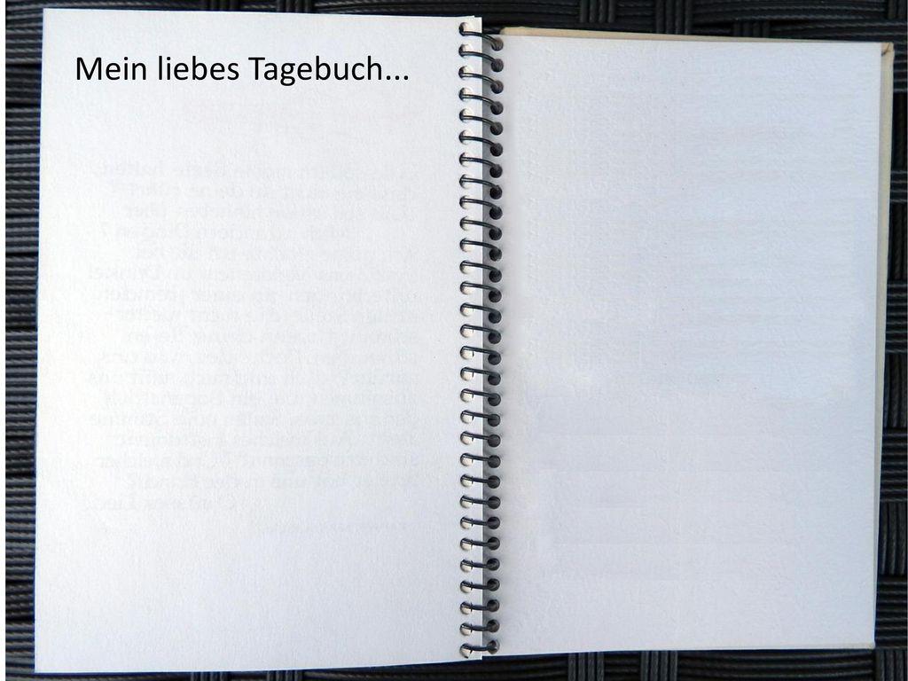 Mein liebes Tagebuch...