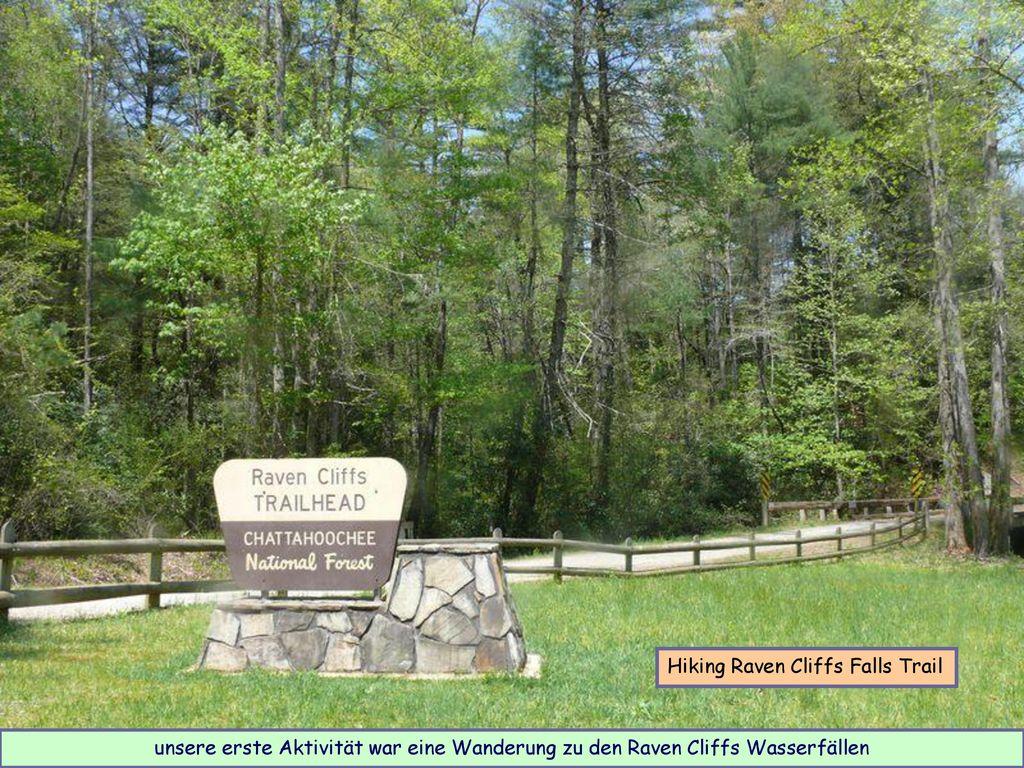 Hiking Raven Cliffs Falls Trail