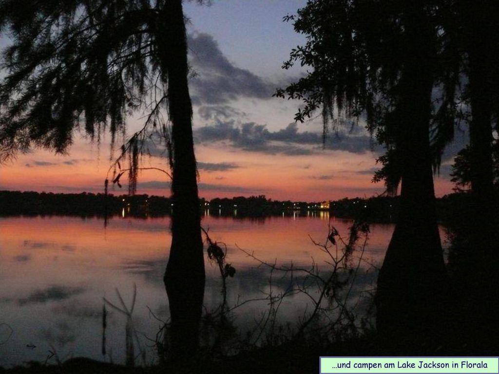 …und campen am Lake Jackson in Florala