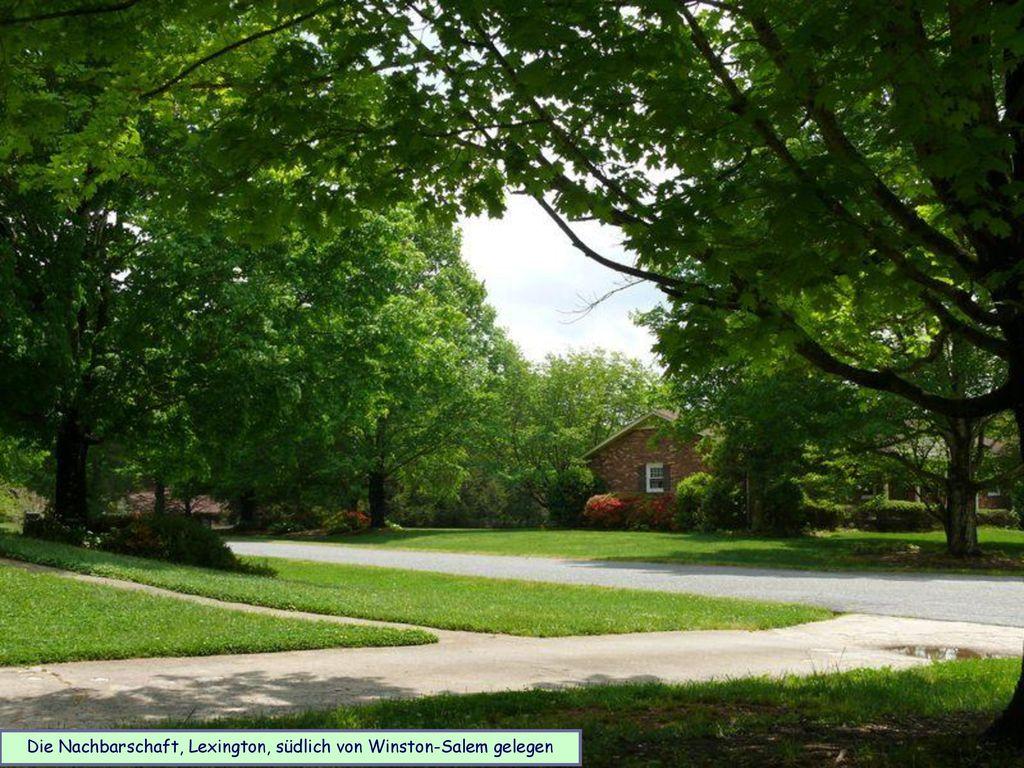 Die Nachbarschaft, Lexington, südlich von Winston-Salem gelegen