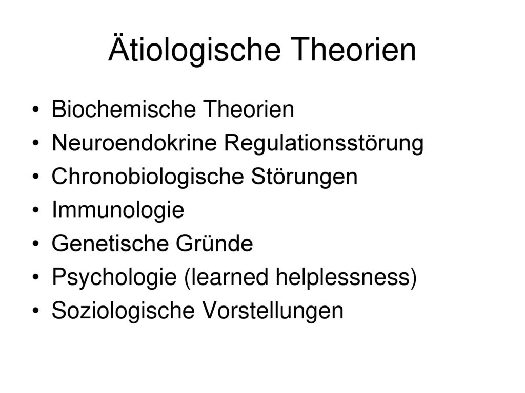 Ätiologische Theorien