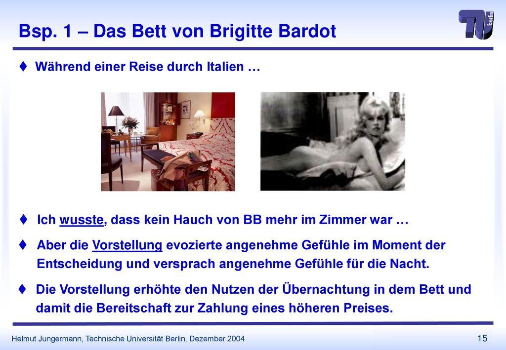 Bsp. 1 – Das Bett von Brigitte Bardot