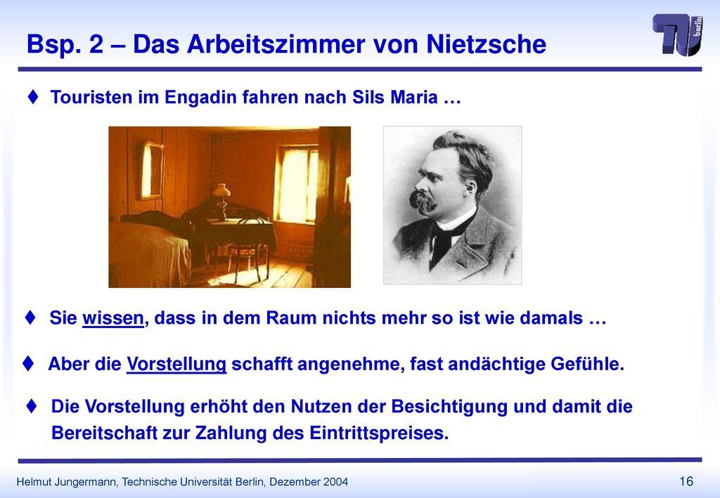 Bsp. 2 – Das Arbeitszimmer von Nietzsche