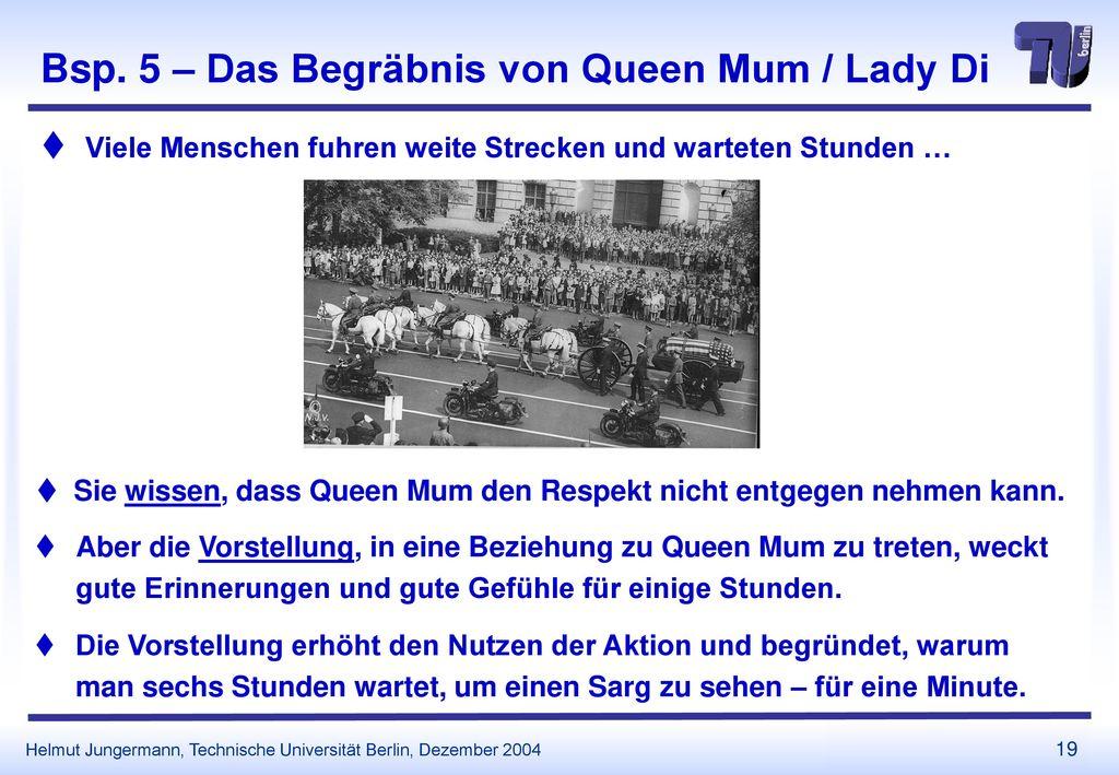 Bsp. 5 – Das Begräbnis von Queen Mum / Lady Di