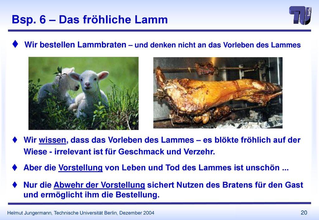 Bsp. 6 – Das fröhliche Lamm