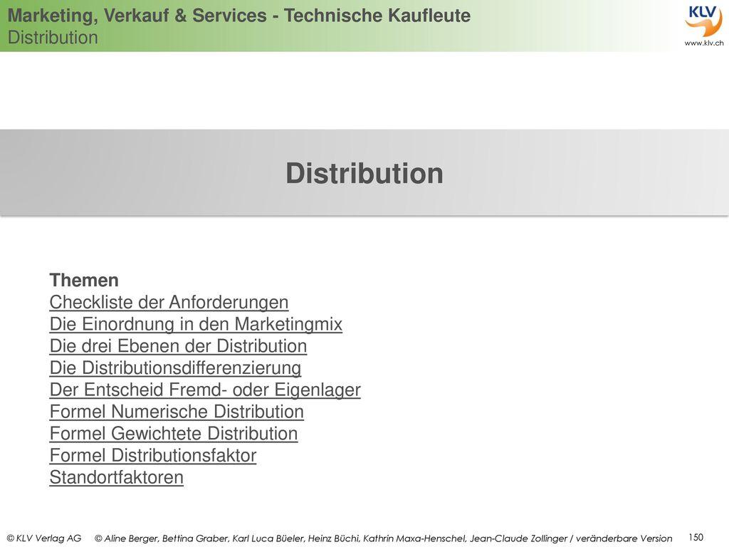 Distribution Themen Checkliste der Anforderungen