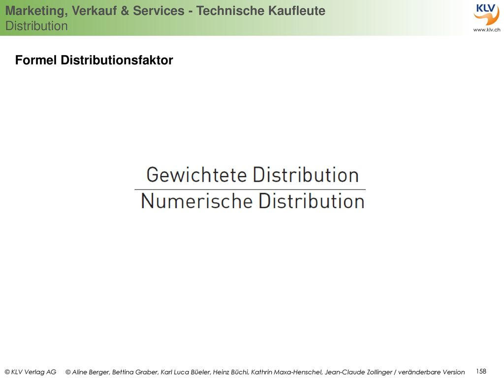 Formel Distributionsfaktor