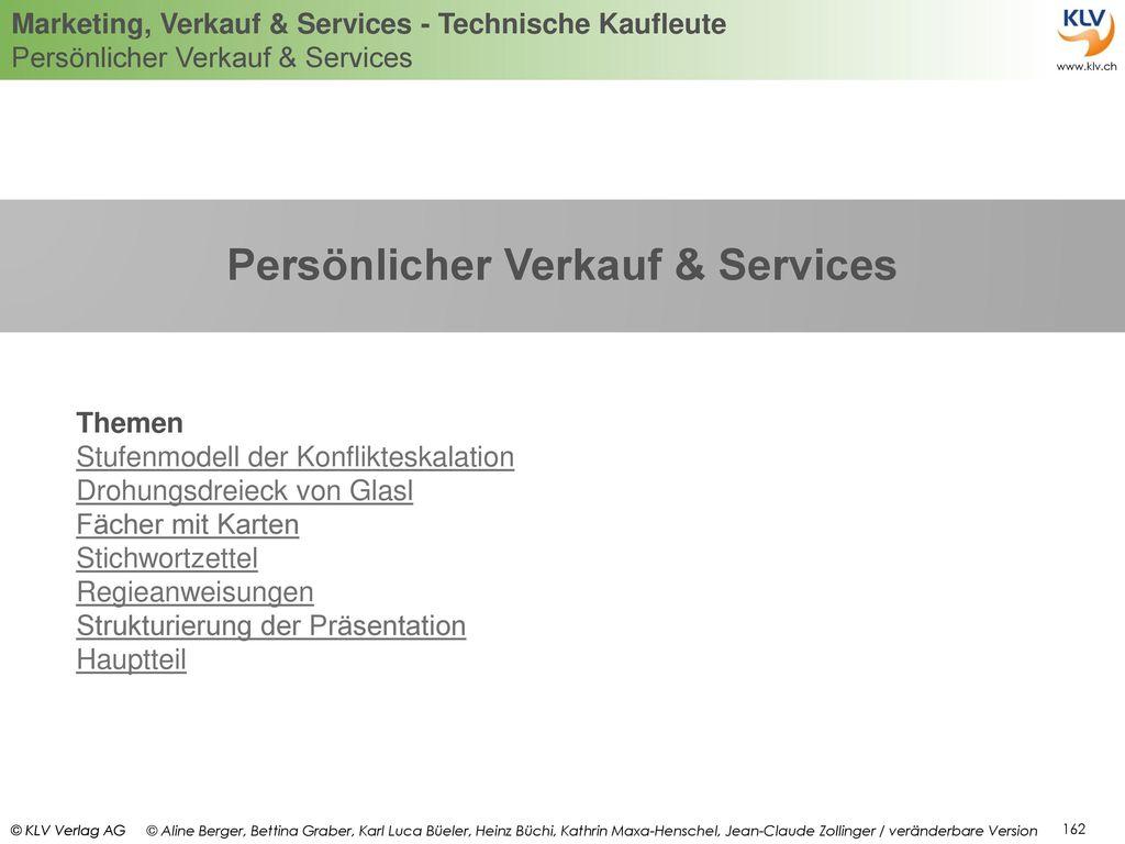 Persönlicher Verkauf & Services