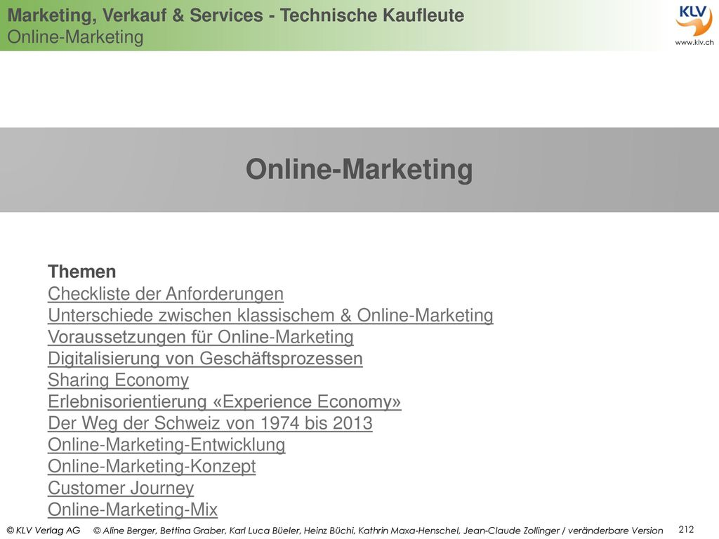 Online-Marketing Themen