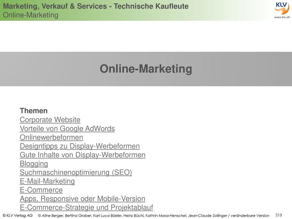 Online-Marketing Themen Corporate Website Vorteile von Google AdWords