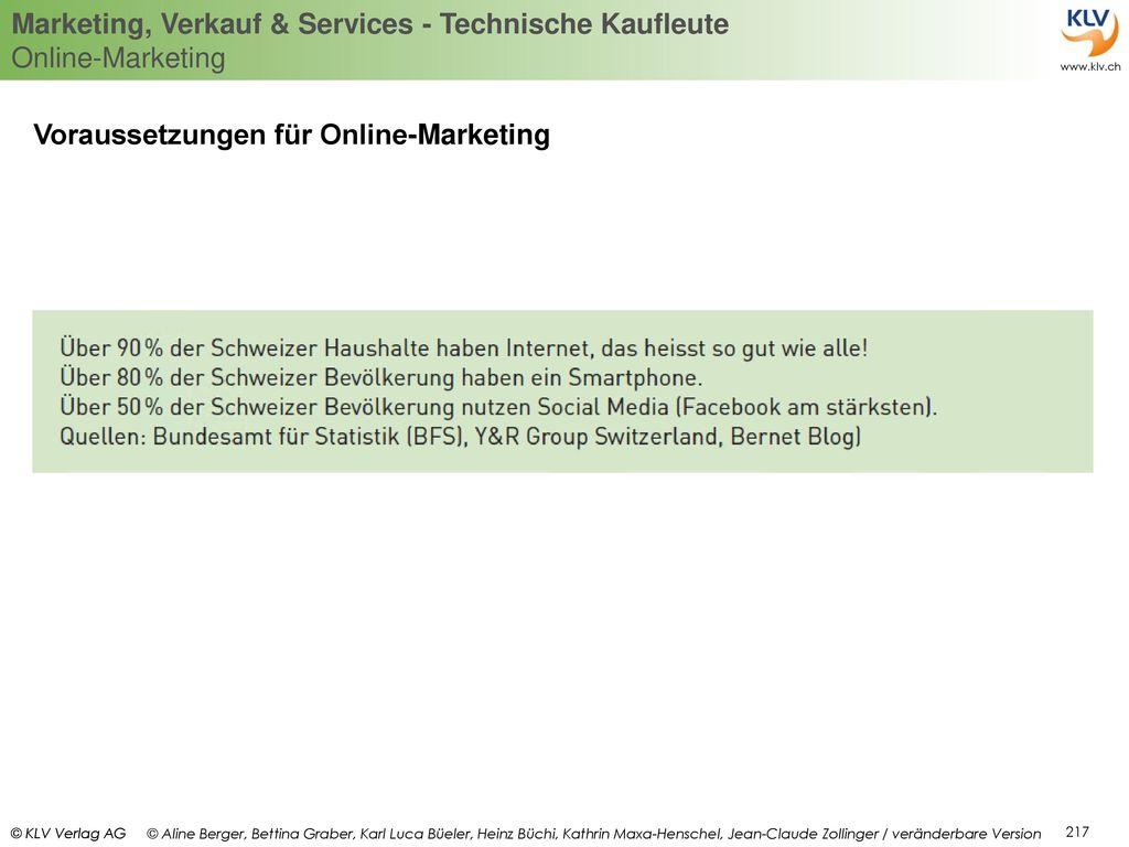 Voraussetzungen für Online-Marketing