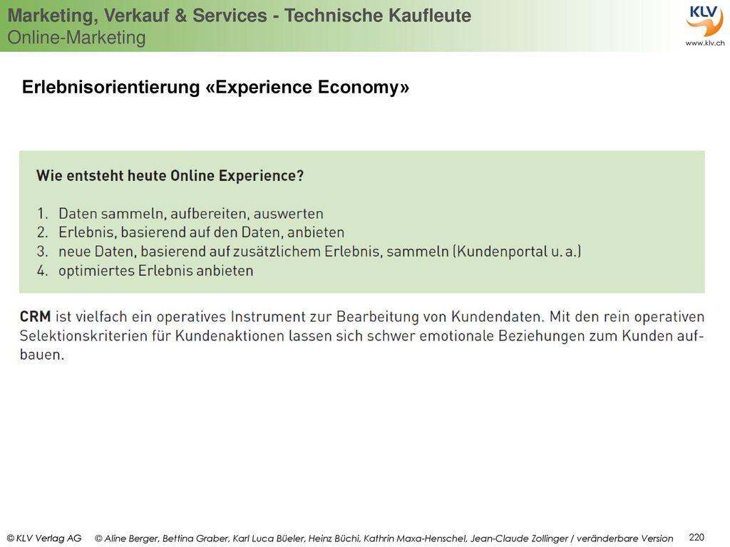 Erlebnisorientierung «Experience Economy»