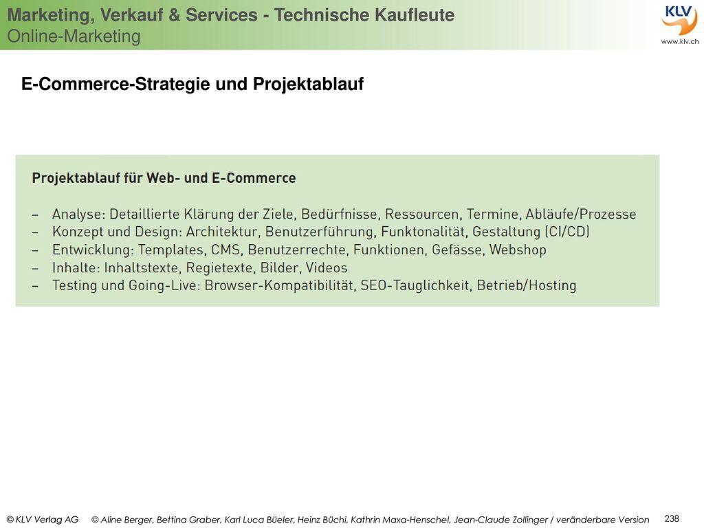 E-Commerce-Strategie und Projektablauf