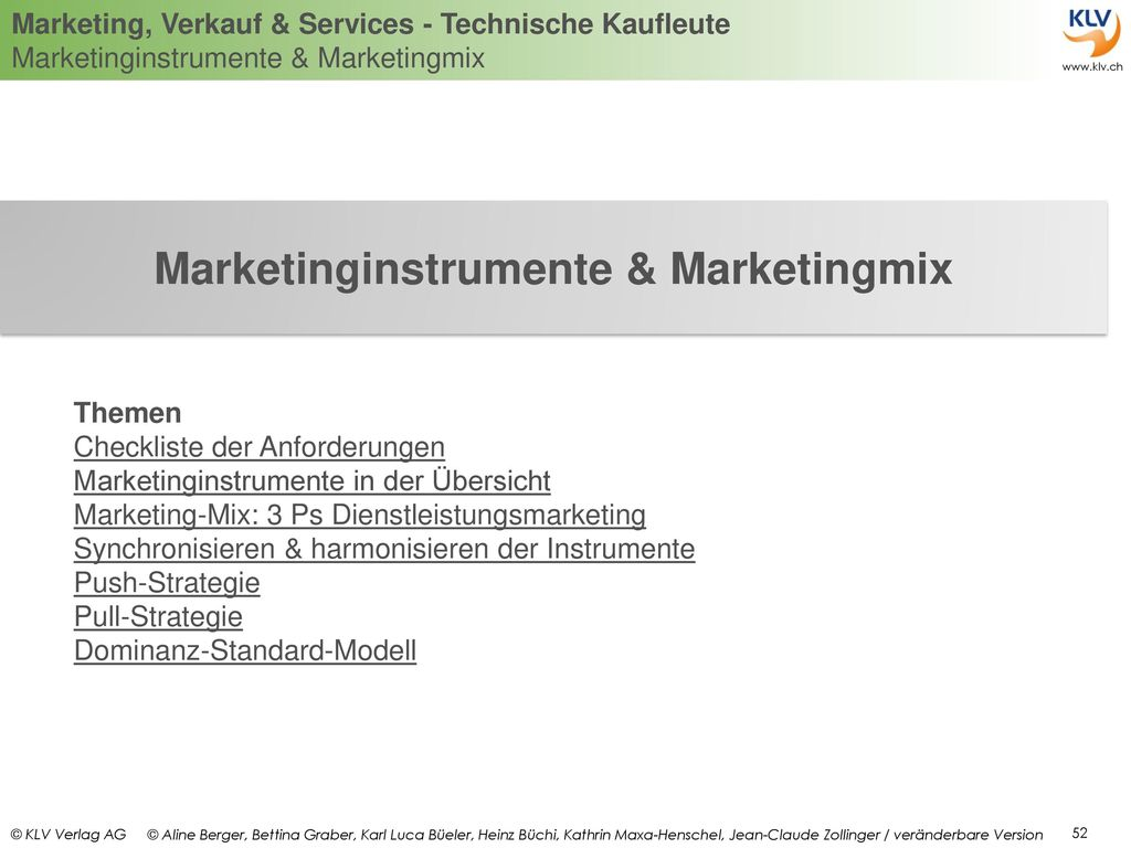 Marketinginstrumente & Marketingmix