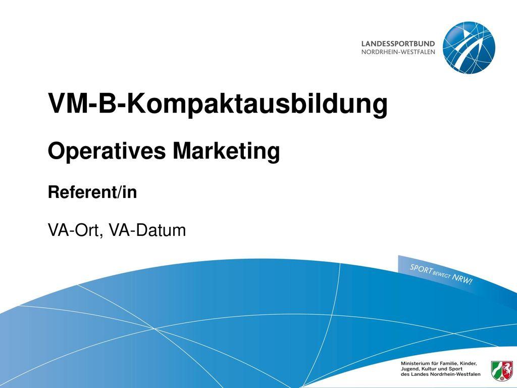 VM-B-Kompaktausbildung