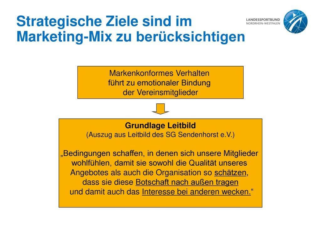 Strategische Ziele sind im Marketing-Mix zu berücksichtigen