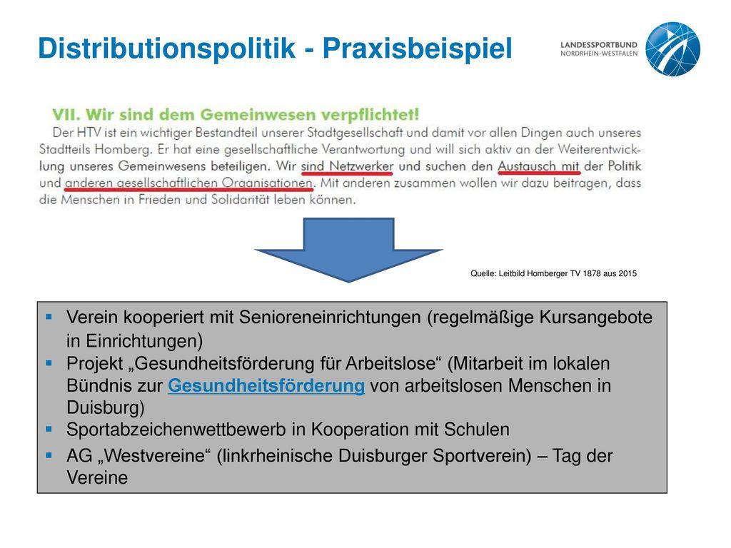 Distributionspolitik - Praxisbeispiel