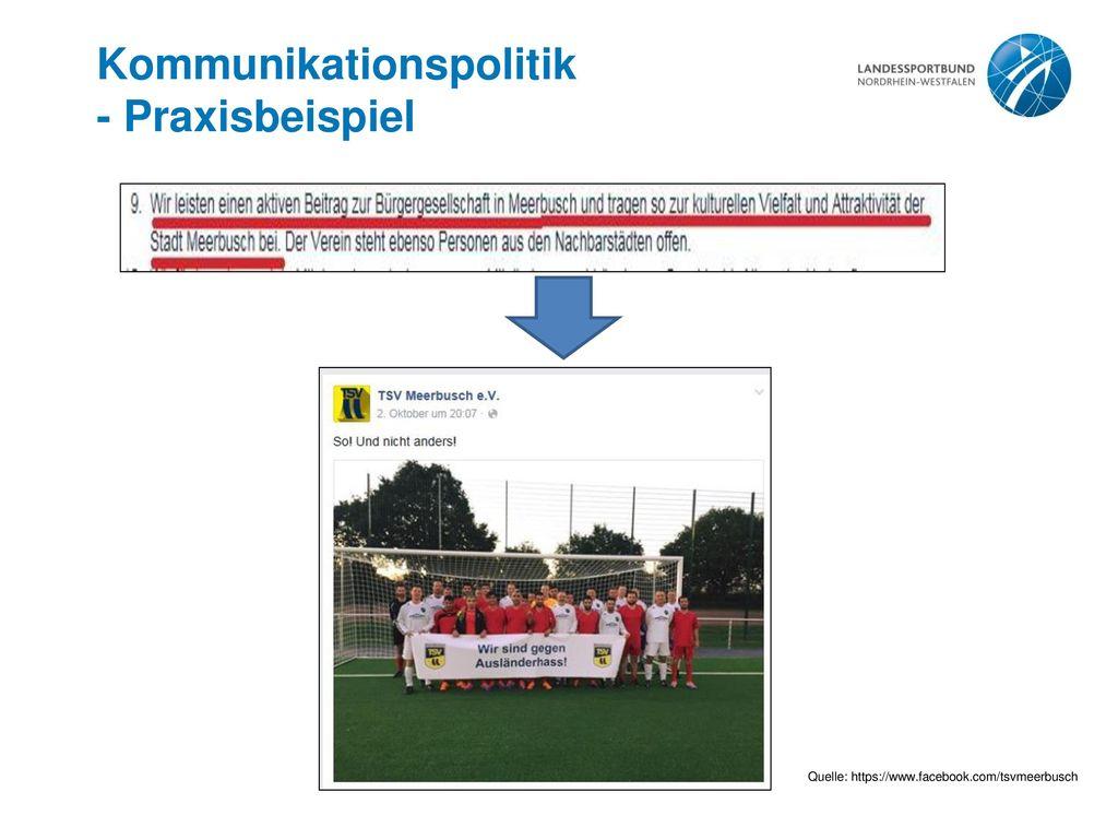 Kommunikationspolitik - Praxisbeispiel