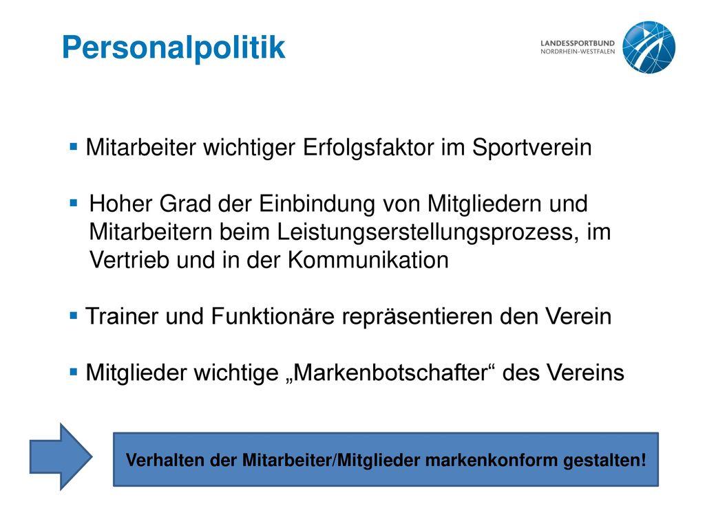 Verhalten der Mitarbeiter/Mitglieder markenkonform gestalten!