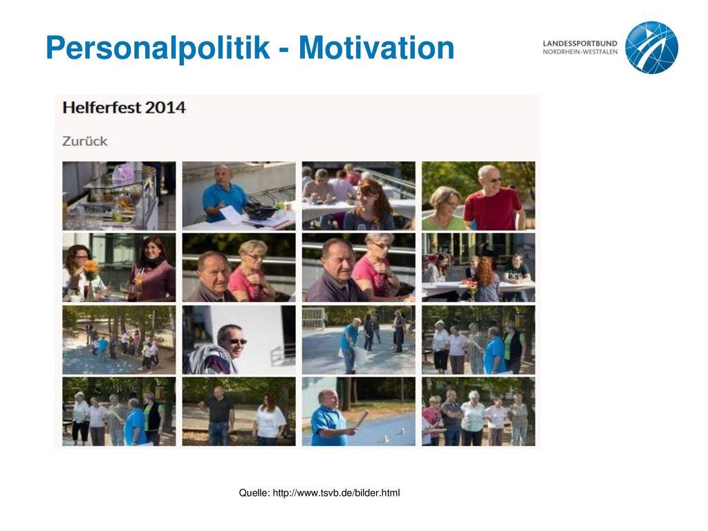 Personalpolitik - Motivation