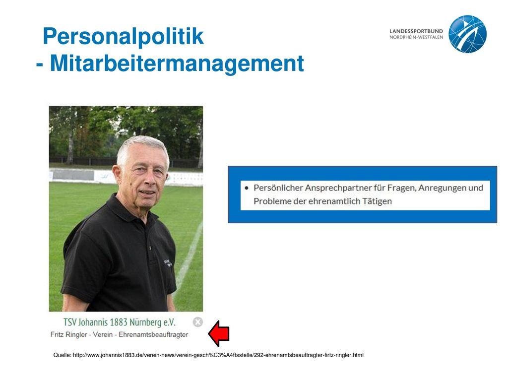 - Mitarbeitermanagement