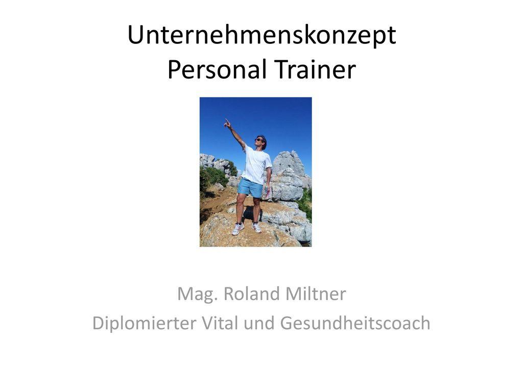 Unternehmenskonzept Personal Trainer